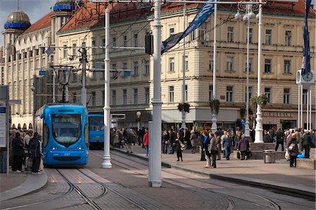 View of Jelacic Square, Zagreb, Croatia Stock Photo - Rights-Managed, Code: 700-03456444