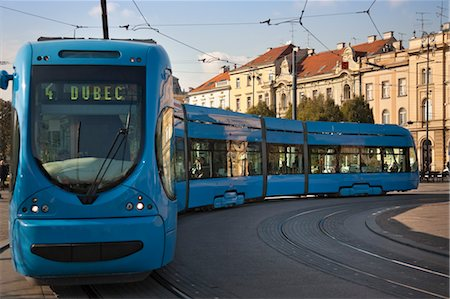 Tram at King Tomislav Square, Zagreb, Croatia Stock Photo - Rights-Managed, Code: 700-03456459