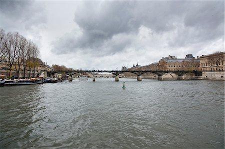Pont des Arts, River Seine, Paris, Ile-de-France, France Stock Photo - Rights-Managed, Code: 700-03456732