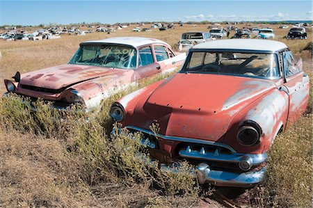 Old, Abandoned Cars in Junk Yard, Desert Southwest, Southwestern United States, USA Stock Photo - Rights-Managed, Code: 700-03451074