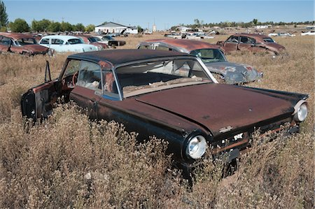 Old, Abandoned Cars in Junk Yard, Desert Southwest, Southwestern United States, USA Stock Photo - Rights-Managed, Code: 700-03451076