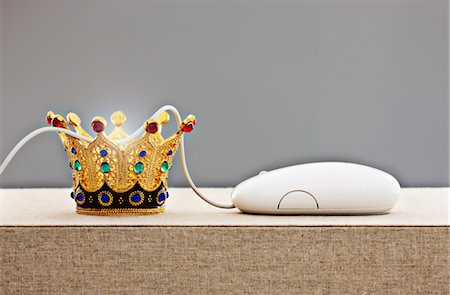 Crown with Computer Mouse Stock Photo - Rights-Managed, Code: 700-03451460