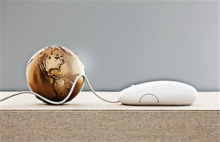 Globe and Computer Mouse Stock Photo - Rights-Managed, Code: 700-03451462