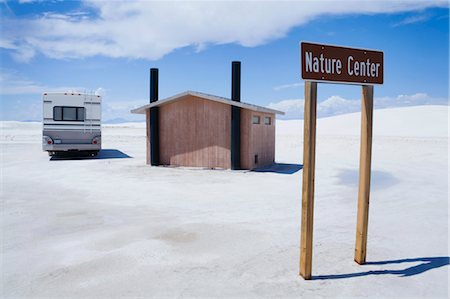 RV and Nature Centre Outhouse, White Sands National Monument, New Mexico, USA Stock Photo - Rights-Managed, Code: 700-03451649