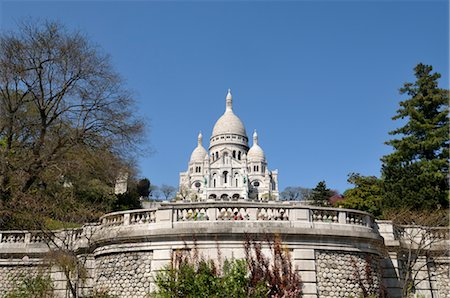 Sacre Coeur, Montmartre, Paris, France Stock Photo - Rights-Managed, Code: 700-03466339