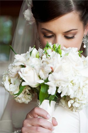 special event - Portrait of Bride with Bouquet Stock Photo - Rights-Managed, Code: 700-03466450