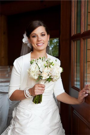 special event - Portrait of Bride holding Bouquet Stock Photo - Rights-Managed, Code: 700-03466453