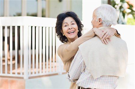 Senior Couple Hugging Stock Photo - Rights-Managed, Code: 700-03466768