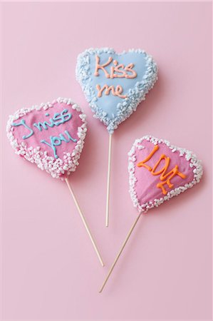 Heart Shaped Lollipops Stock Photo - Rights-Managed, Code: 700-03478623