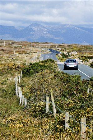 road landscape - Car on Road, Connemara, Ireland Stock Photo - Rights-Managed, Code: 700-03485157
