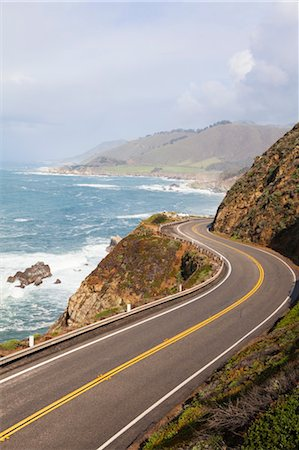Highway #1, Big Sure Coastline, California, USA Stock Photo - Rights-Managed, Code: 700-03490340