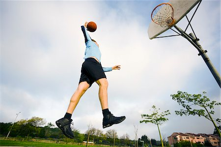 peter griffith - Man Playing Basketball Stock Photo - Rights-Managed, Code: 700-03506300
