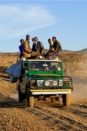 Passengers on Off-road Vehicle, Marsabit, Kenya Stock Photo - Rights-Managed, Code: 700-03508273