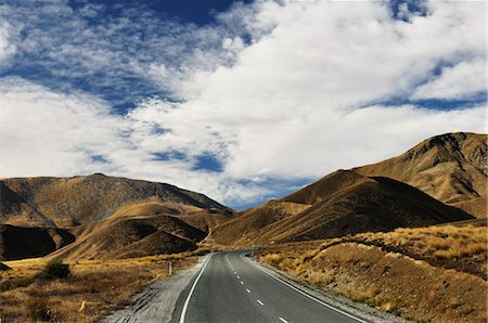 Lindis Pass Road, Canterbury, South Island, New Zealand Stock Photo - Rights-Managed, Code: 700-03508387