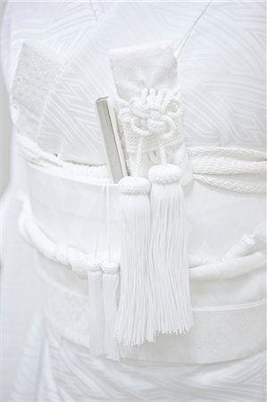 silk - Kaiken and Fan in Obi of Bride, Kanazawa, Ishikawa prefecture, Chubu Region, Honshu, Japan Stock Photo - Rights-Managed, Code: 700-03508524