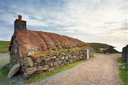 Black House, Garenin, Isle of Lewis, Scotland Stock Photo - Rights-Managed, Code: 700-03508648