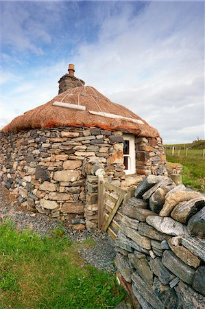 Black House, Garenin, Isle of Lewis, Scotland Stock Photo - Rights-Managed, Code: 700-03508649