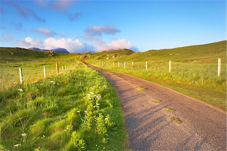 Empty Road, Isle of Lewis, Scotland Stock Photo - Rights-Managed, Code: 700-03508656
