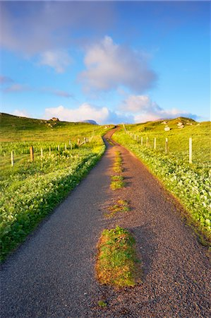 Empty Road, Isle of Lewis, Scotland Stock Photo - Rights-Managed, Code: 700-03508657