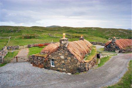 Black House Village, Garenin, Isle of Lewis, Scotland Stock Photo - Rights-Managed, Code: 700-03508650