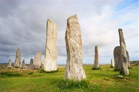 Stones of Callanish, Isle of Lewis, Scotland Stock Photo - Rights-Managed, Code: 700-03508652