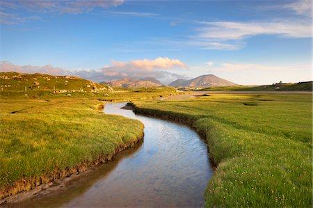 River and Salt Marsh, Isle of Lewis, Outer Hebrides, Hebrides, Scotland, United Kingdom Stock Photo - Rights-Managed, Code: 700-03508662