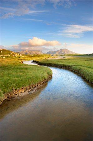 River and Salt Marsh, Isle of Lewis, Outer Hebrides, Hebrides, Scotland, United Kingdom Stock Photo - Rights-Managed, Code: 700-03508663