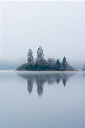Island, Loch Achray, Trossachs, Stirling, Scotland, United Kingdom Stock Photo - Rights-Managed, Code: 700-03508672
