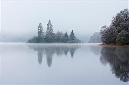 Island, Loch Achray, Trossachs, Stirling, Scotland, United Kingdom Stock Photo - Rights-Managed, Code: 700-03508673