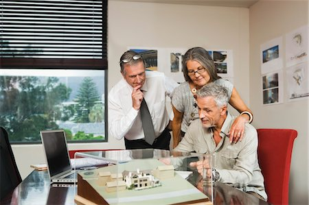 Mature Couple Discussing New Home Proposal with Architect Stock Photo - Rights-Managed, Code: 700-03501281