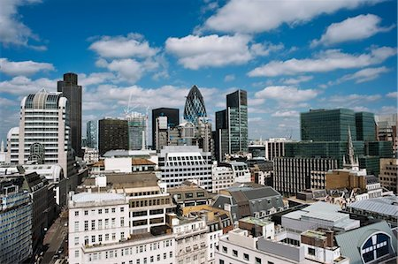 Overview of Financial District, London, England Stock Photo - Rights-Managed, Code: 700-03501310