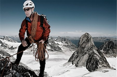 extreme terrain - Mountain Climber, Bugaboos, British Columbia, Canada Stock Photo - Rights-Managed, Code: 700-03502792