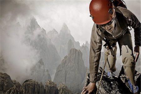 extreme terrain - Man Rock Climbing Stock Photo - Rights-Managed, Code: 700-03502793