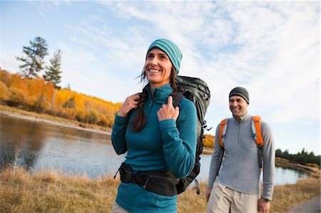 Couple Hiking alongside the Deschutes River, Oregon, USA Stock Photo - Rights-Managed, Code: 700-03502935