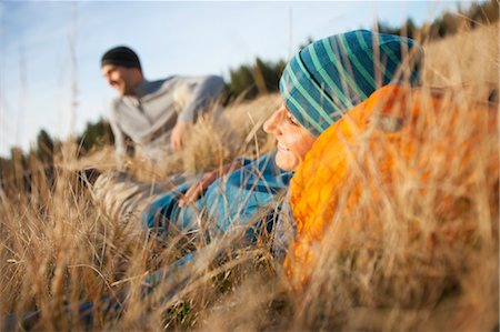 Couple Sitting in Long Grass near Deschutes River, Oregon, USA Stock Photo - Rights-Managed, Code: 700-03502944