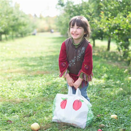 single fruits tree - Little Girl in Apple Orchard Stock Photo - Rights-Managed, Code: 700-03502976