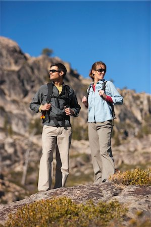 Couple Hiking at Donner Summit, near Lake Tahoe, California, USA Stock Photo - Rights-Managed, Code: 700-03503016