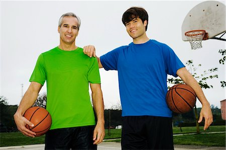 peter griffith - Father and Son on Basketball Court Stock Photo - Rights-Managed, Code: 700-03519156