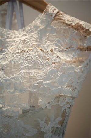 Detail of Wedding Gown Stock Photo - Rights-Managed, Code: 700-03519184