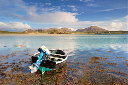Boat on Shore, Near Timsgarry, Isle of Lewis, Scotland Stock Photo - Rights-Managed, Code: 700-03519724