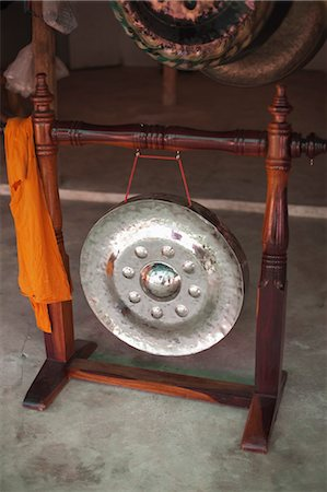 decorative - Shop Selling Metal Gongs for Buddhist Temples, Ubon Ratchathani Province, Northeast Thailand Stock Photo - Rights-Managed, Code: 700-03520656