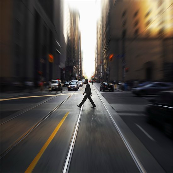 Pedestrian at Intersection, Toronto, Ontario, Canada Stock Photo - Premium Rights-Managed, Artist: Andrew Kolb, Image code: 700-03554376