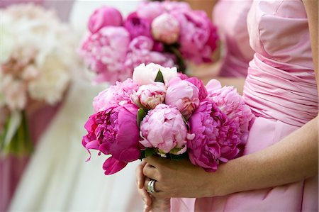 peony - Bridesmaids Holding Flowers at Wedding Stock Photo - Rights-Managed, Code: 700-03554395