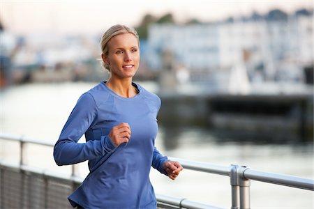 Woman Running at Sunset, Seattle, Washington, USA Stock Photo - Rights-Managed, Code: 700-03554521