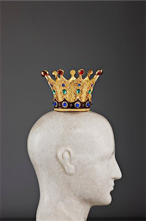 Jeweled Crown on Model of Head Stock Photo - Rights-Managed, Code: 700-03553422