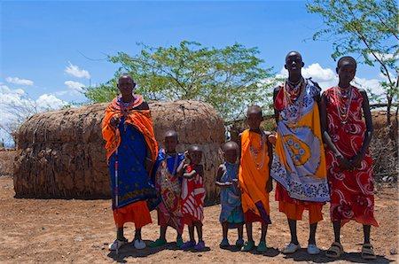 Portrait of Masai at Magadi Lake Village, Kenya Stock Photo - Rights-Managed, Code: 700-03567754