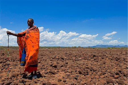Portrait of Masai at Magadi Lake Village, Kenya Stock Photo - Rights-Managed, Code: 700-03567759