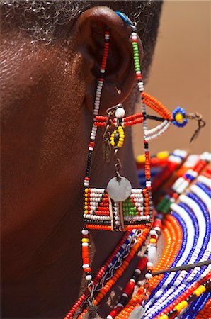 Close-up of Masai Jewelry at Magadi Lake Village, Kenya Stock Photo - Rights-Managed, Code: 700-03567752