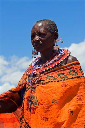 Portrait of Masai at Magadi Lake Village, Kenya Stock Photo - Rights-Managed, Code: 700-03567760