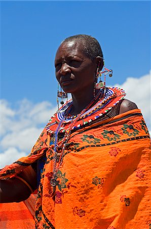 Portrait of Masai at Magadi Lake Village, Kenya Stock Photo - Rights-Managed, Code: 700-03567760